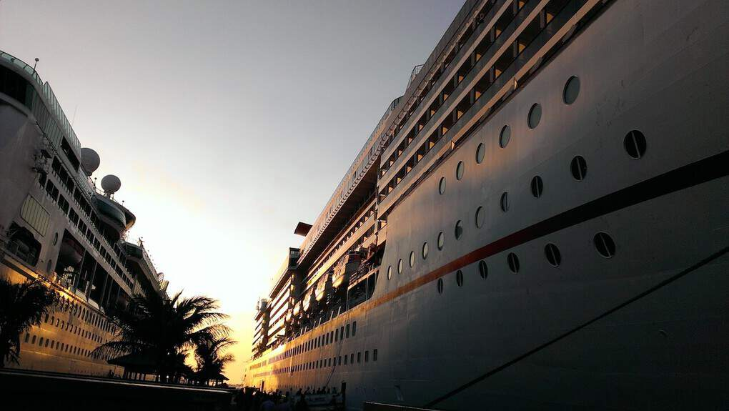 Cruise ship on dock