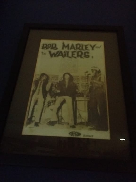 Bob Marley and the Wailers poster in Kingston