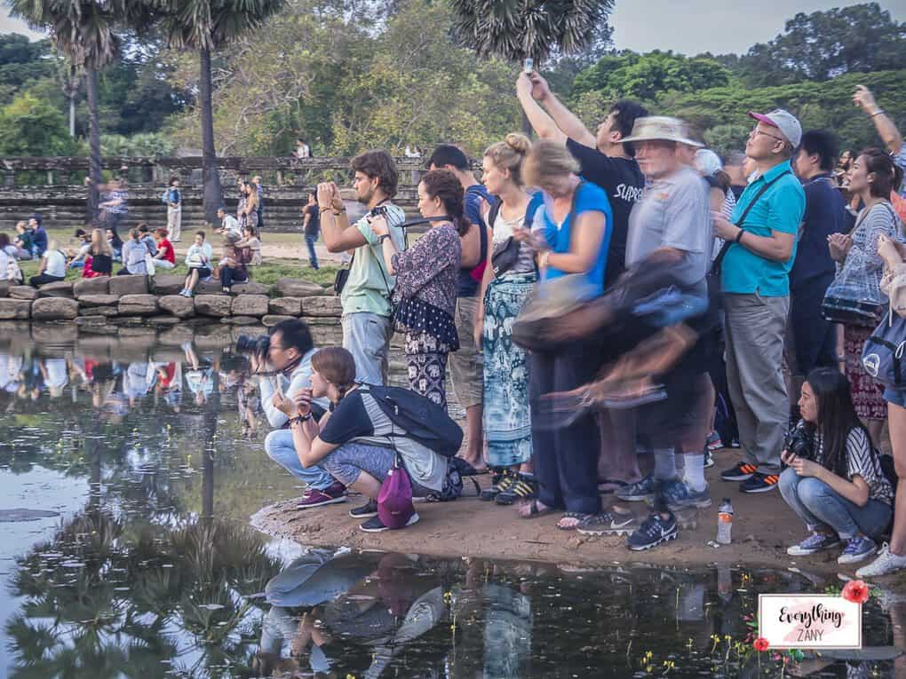 The crowded spot in Angkor Wat
