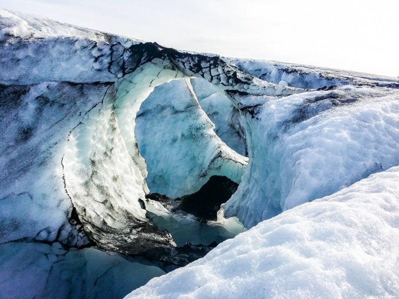 Effects of Global Warming: Sólheimajökull Glacier (Glacier near Reykjavik, Iceland)
