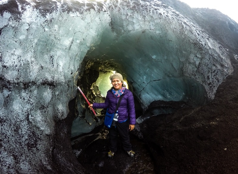 Solheimajokull glacier hike in Iceland