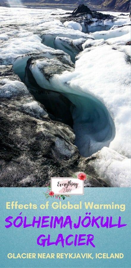 Solheimajokull Glacier in South Iceland
