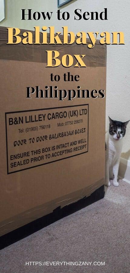 Balikbayan box to the philippines