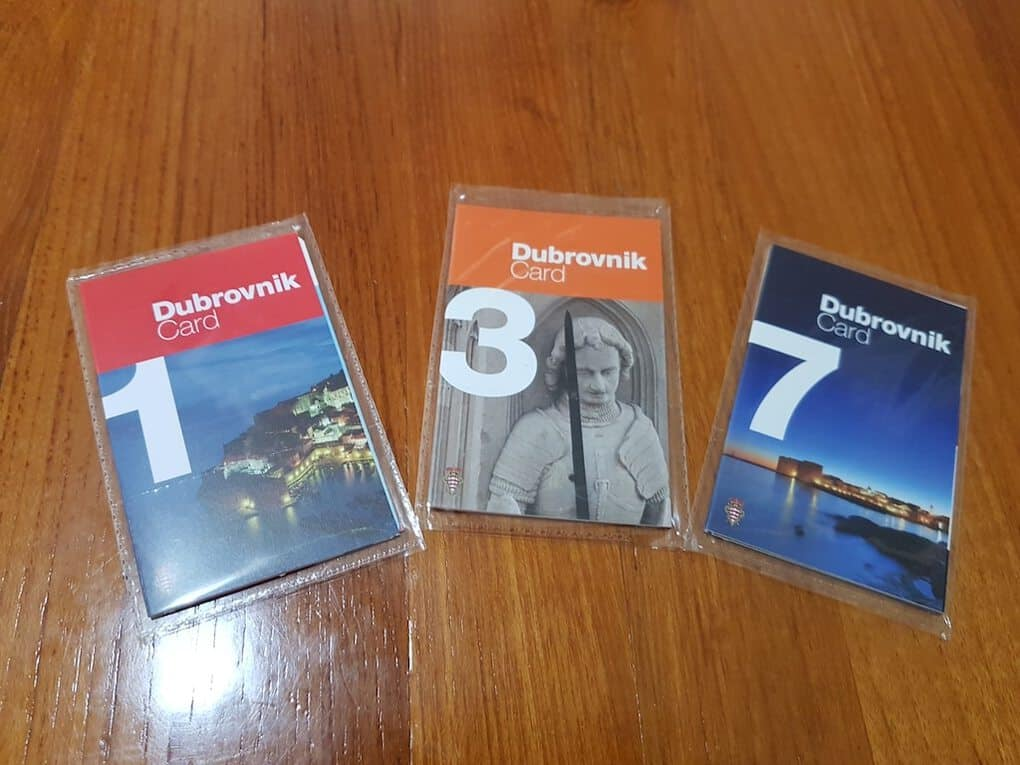 Dubrovnik Cards from the Tourism Office Dubrovnik