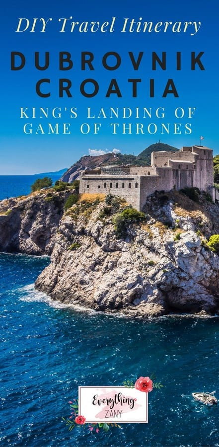 DIY Travel Itinerary to Dubrovnik, Croatia