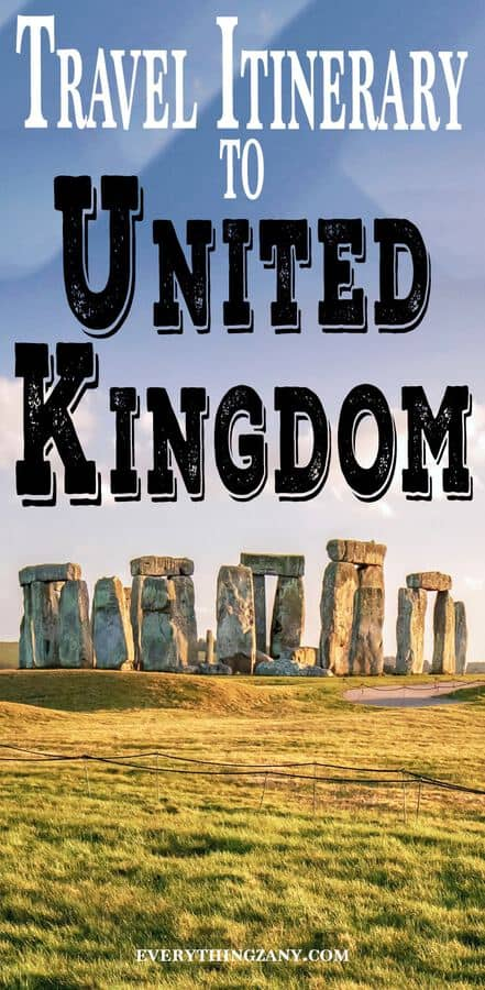 Travel Itinerary to United Kingdom