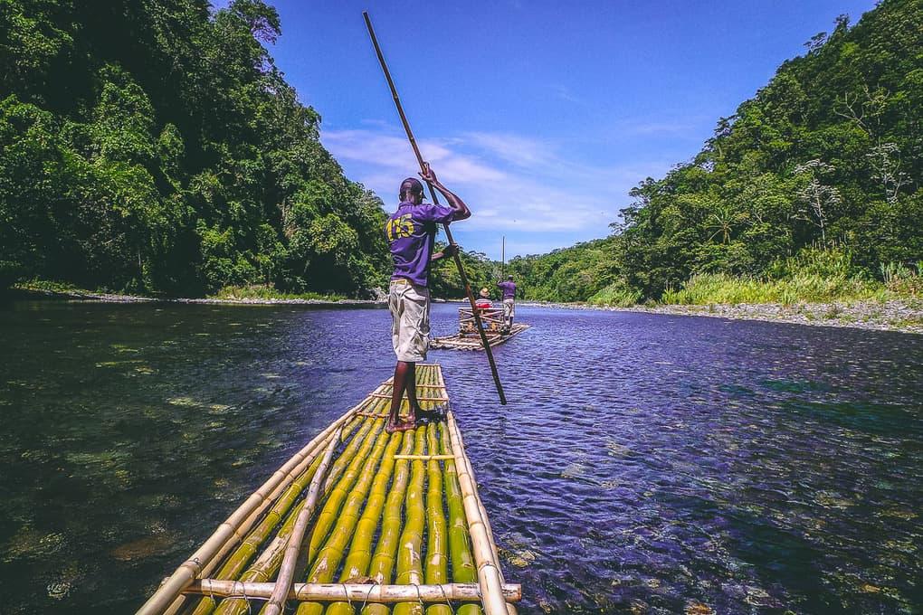 River rafting in Jamaica