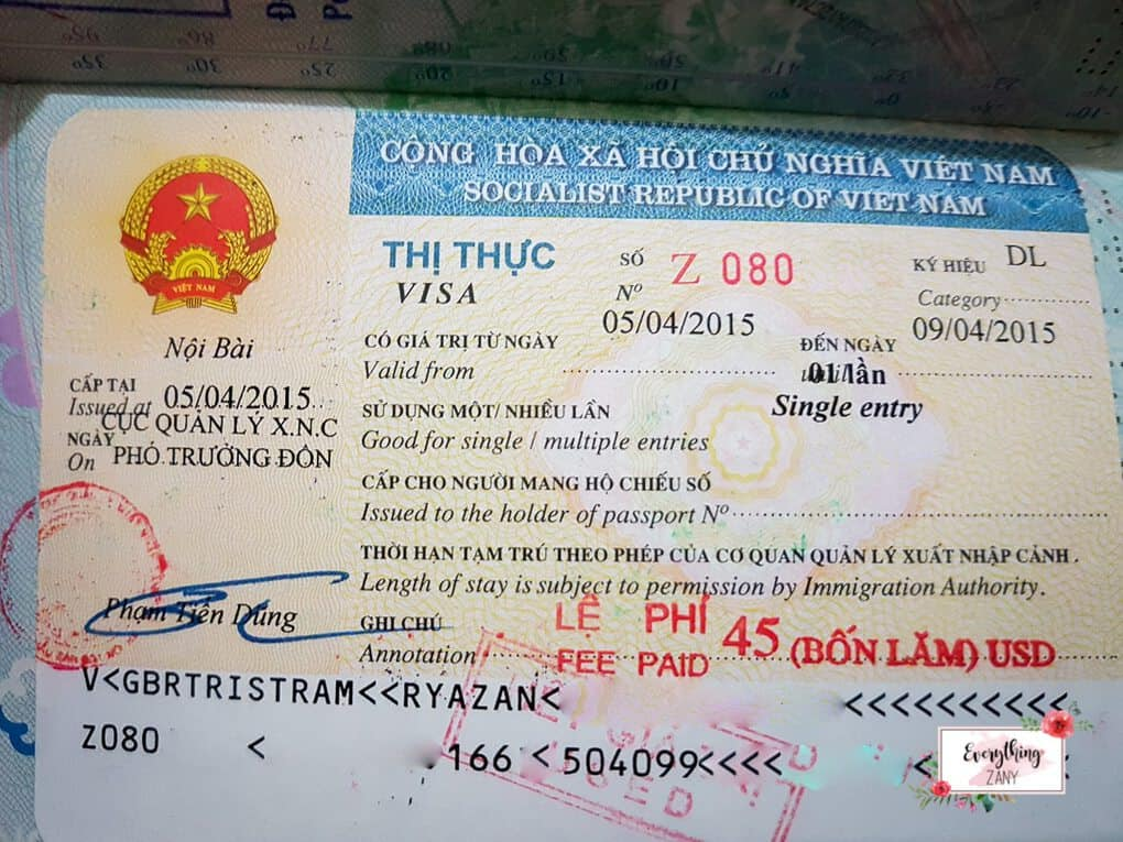 Vietnam Visa Scam: A Visa Experience using my British Passport