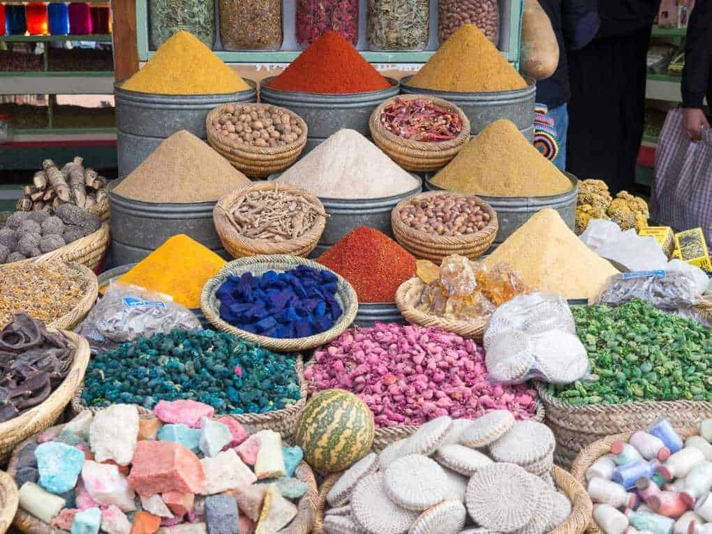 Spices in the Marrakech souk