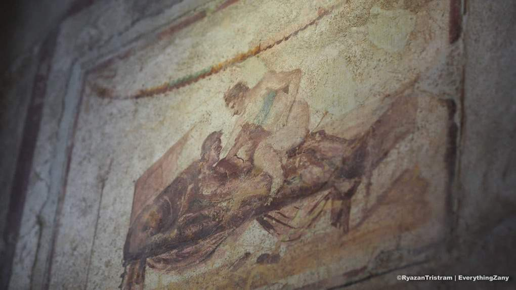 Frescoes in a brothel in Pompeii