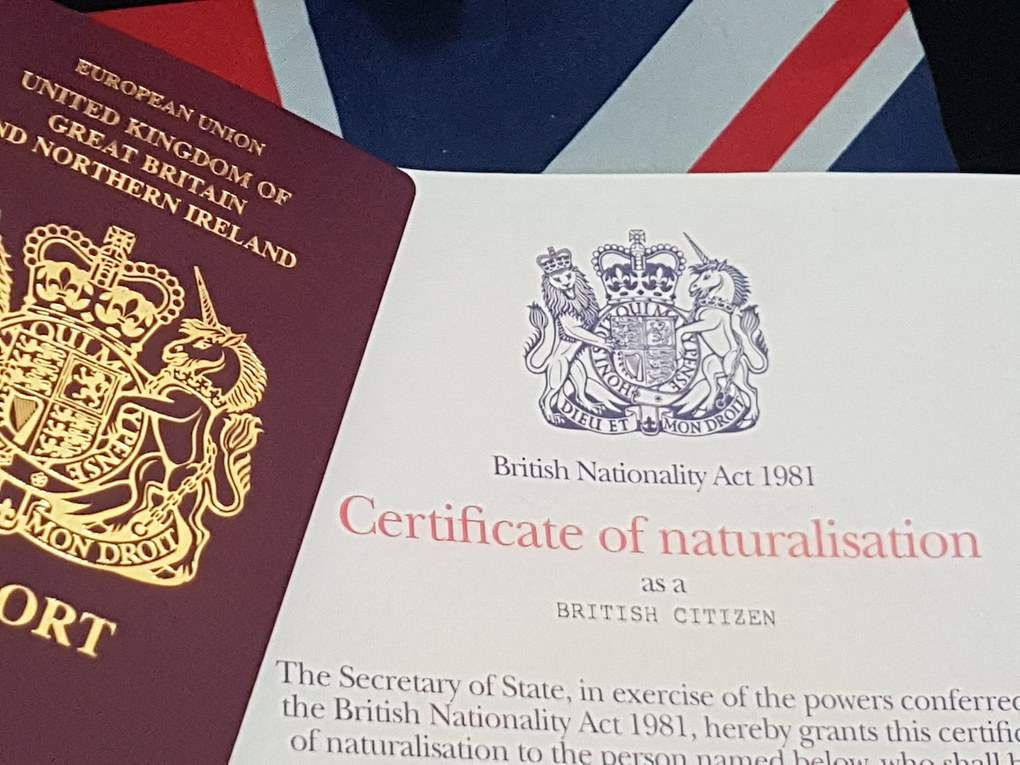 UK Citizenship certificate and british passport