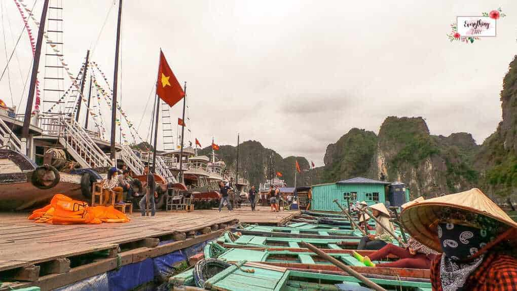 Fishing Village in Halong Bay Vietnam