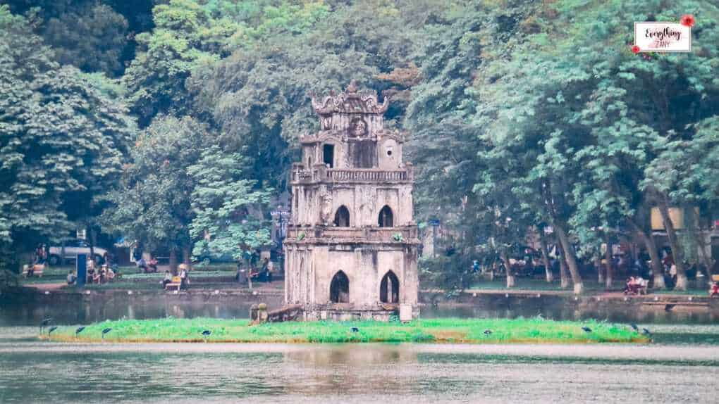 things to see in Hanoi -  Hoan Kiem Lake Pagoda in Hanoi