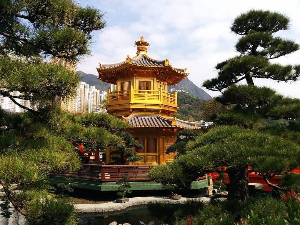 Hong Kong Chi Lin Nunnery pagoda