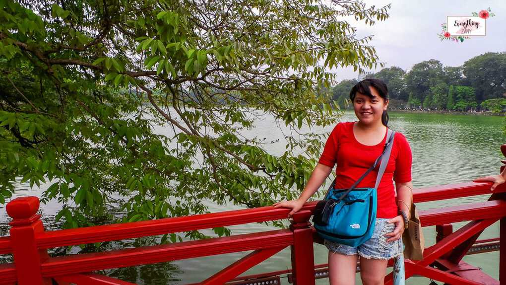 Red Bridge in Hoan Kiem Lake in Hanoi
