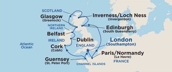 12 Days British Isles Cruises on Royal Princess