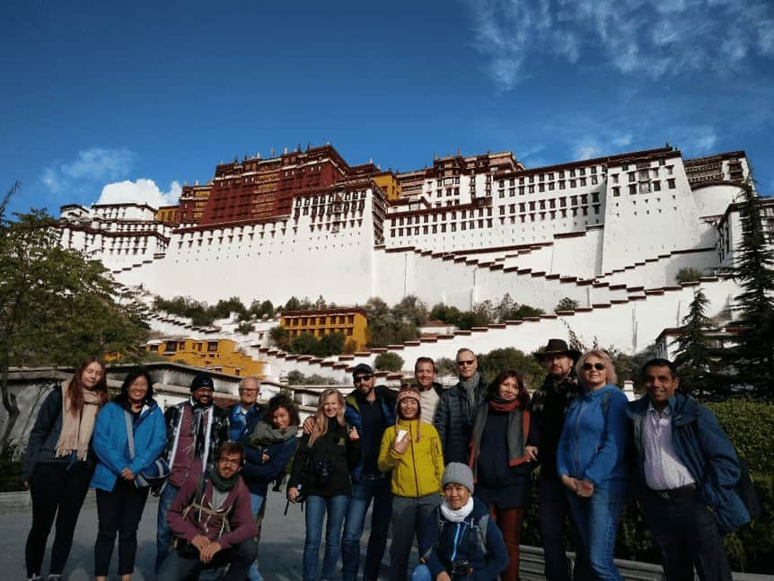 Group photos in TIbet