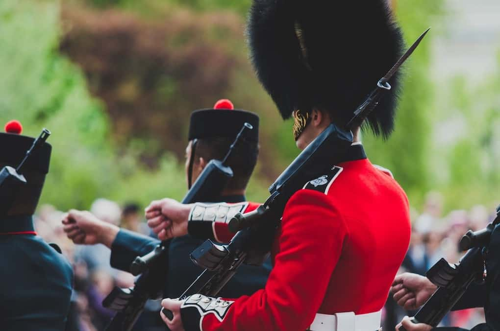 Change of Guards in Household Cavalry in London