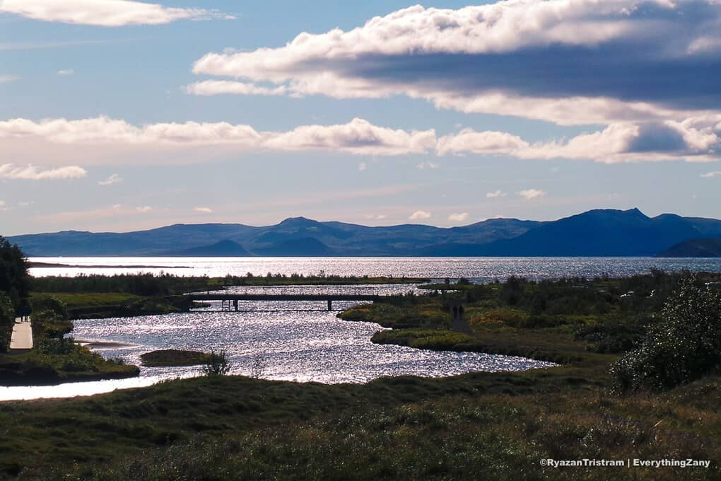 Oxara Lake in Thingvellir Iceland