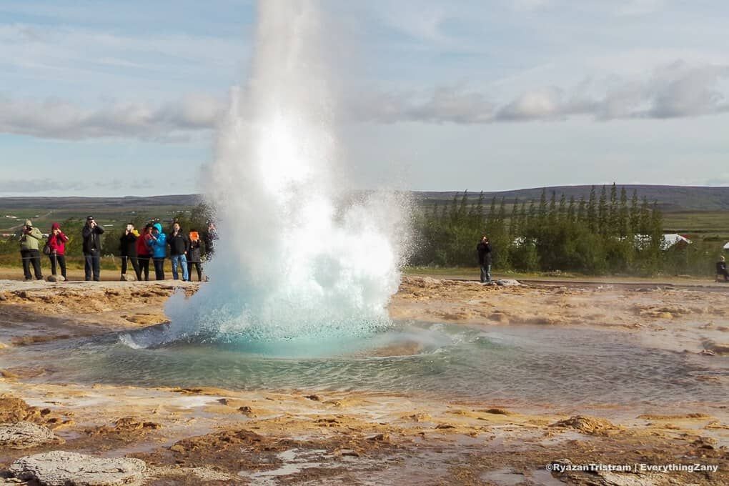 Strokkur Geysir in the Golden Circle Iceland