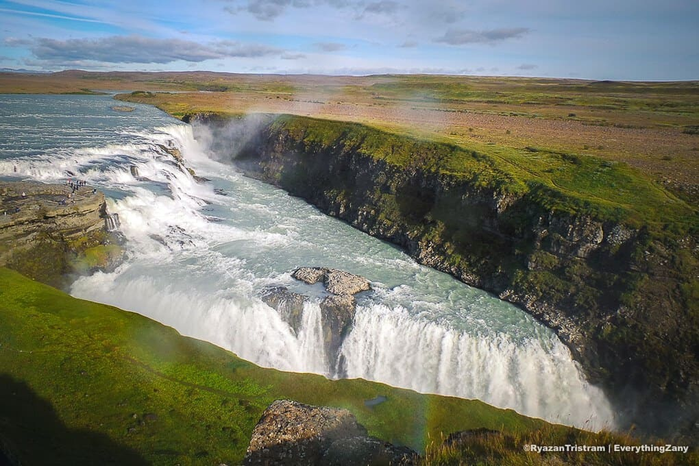 The Gullfoss in Golden Circle Iceland