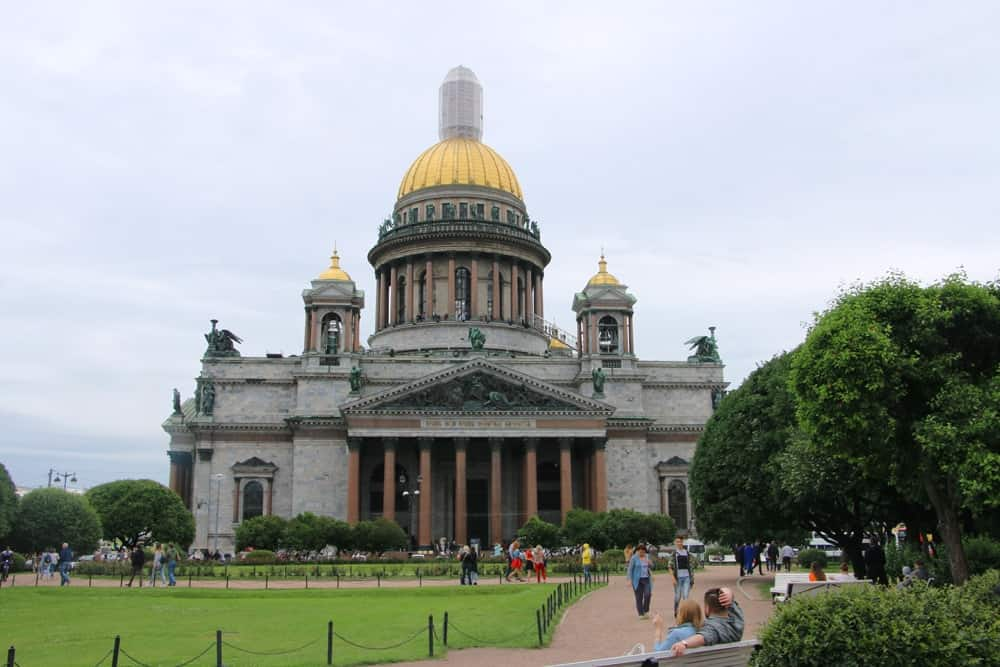 Baltic cruise St Petersburg St Isaac cathedral
