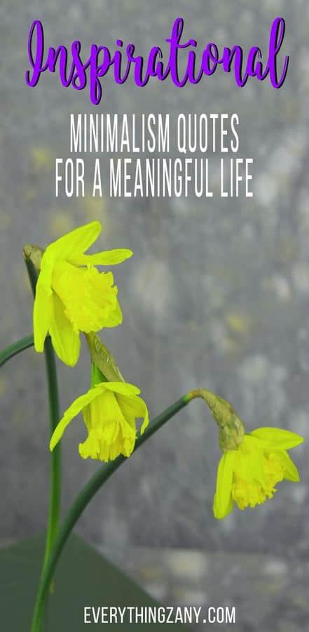 Inspirational Minimalism Quotes