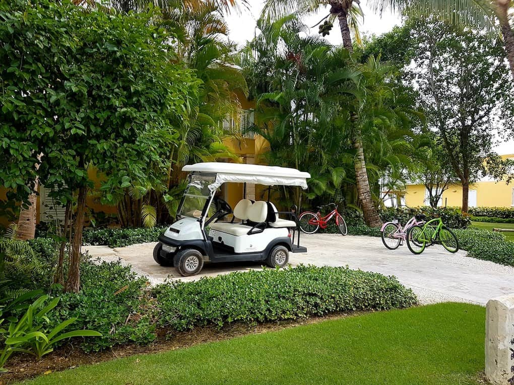 Puntacana resort golf cart and bike