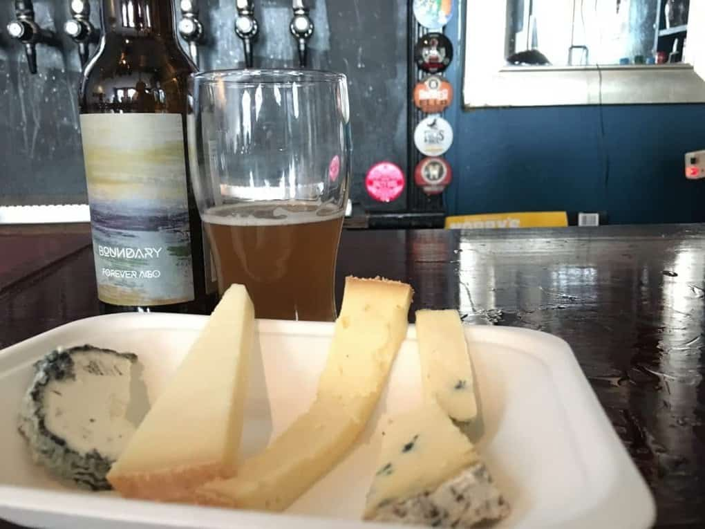 Beer and cheese tasting Young Buck Northern Ireland
