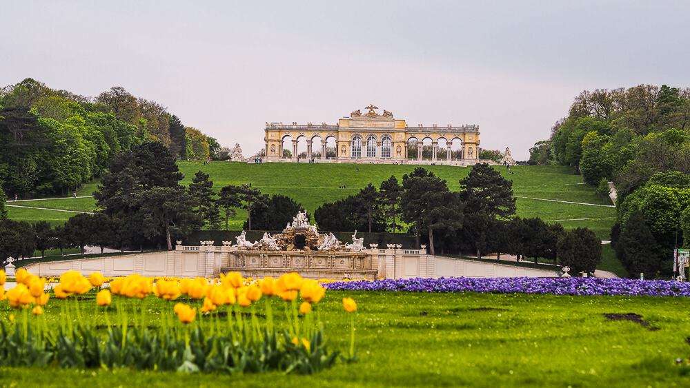 Backpacking Travel Around Europe By Train Itinerary For 2 Weeks - Garden of Schonbrunn Palace in Vienna