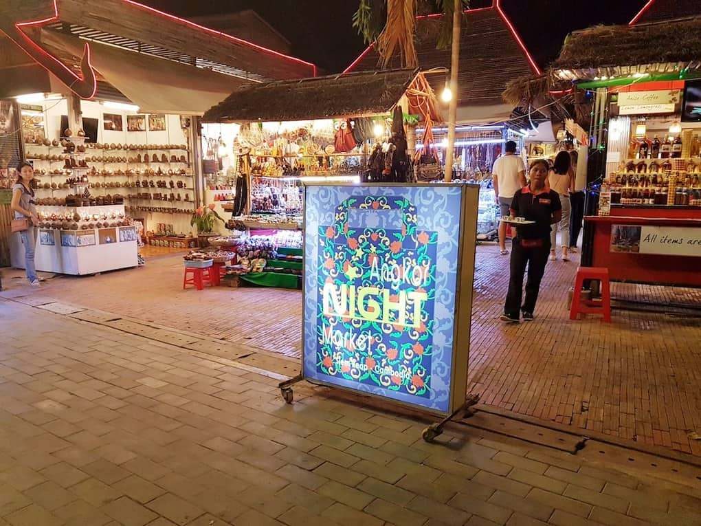 Night Market in Siem Reap Cambodia