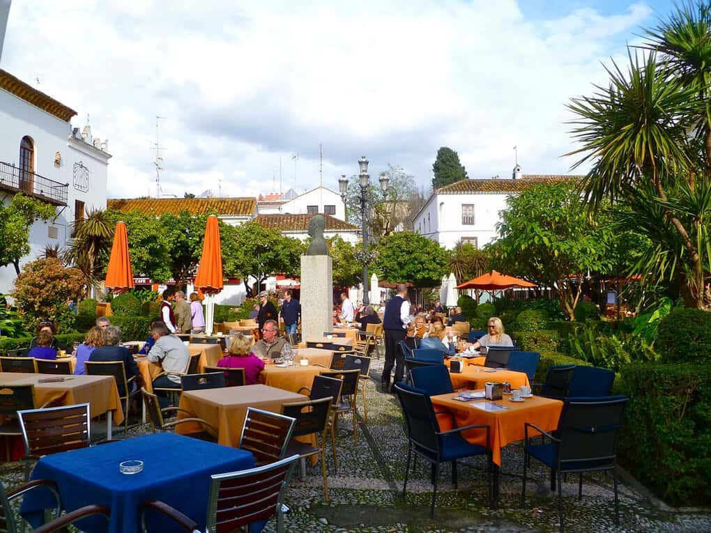 Orange Square in Old Town Marbella Spain