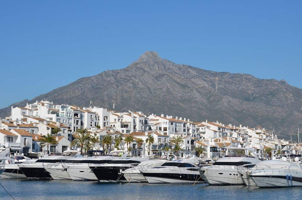 Puerto Banus in Marbella Spain