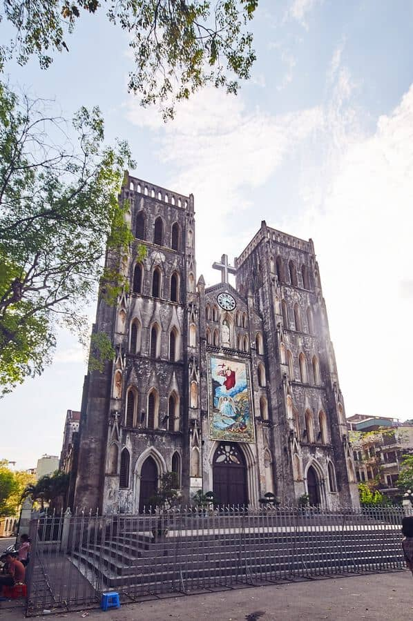 places to visit in Hanoi -  St Josephs Cathedral Hanoi Vietnam