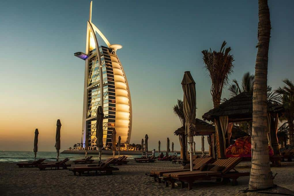 Places to visit in Dubai: Burj Al Arab in Dubai City
