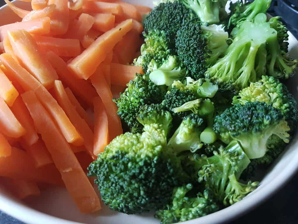 Carrots and Broccoli for Fast 800