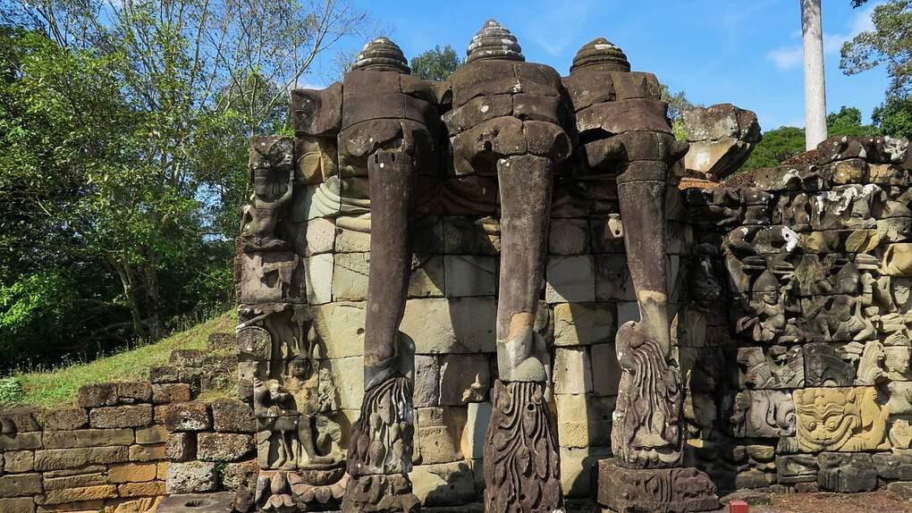 Terrace of the Elephants Temple in Angkor Siem Reap