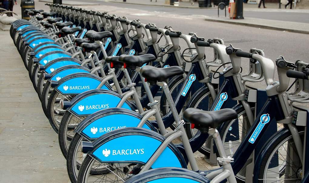 Boris bikes in London