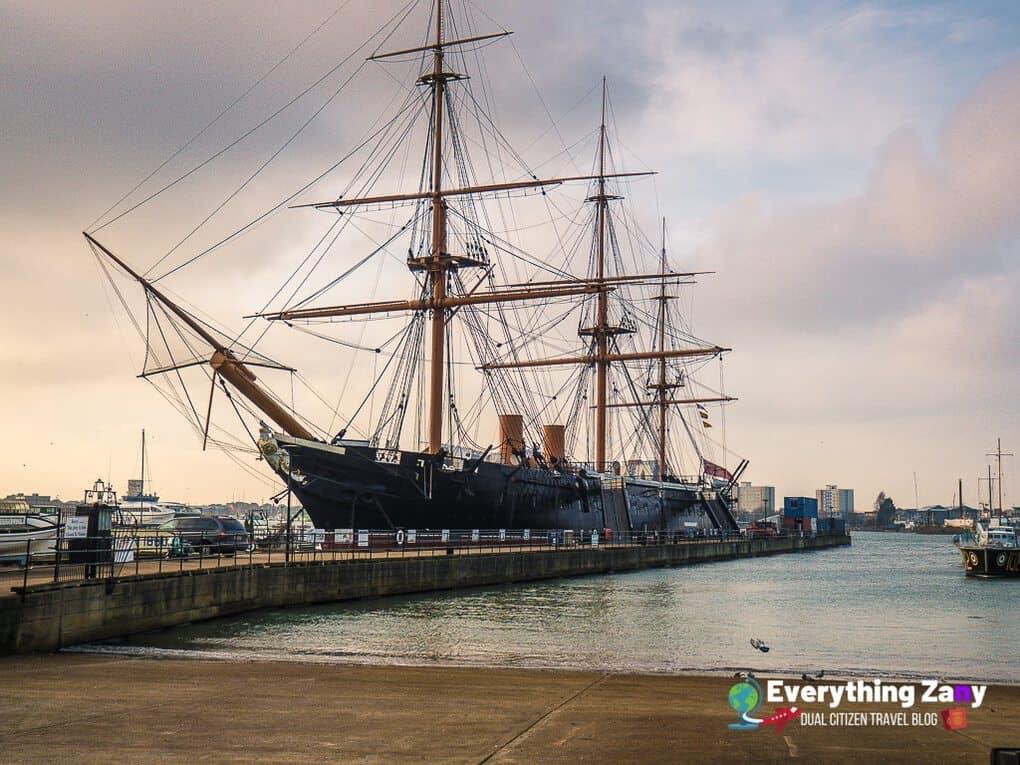 HMS Warrior at the Portsmouth Historic Dockyard