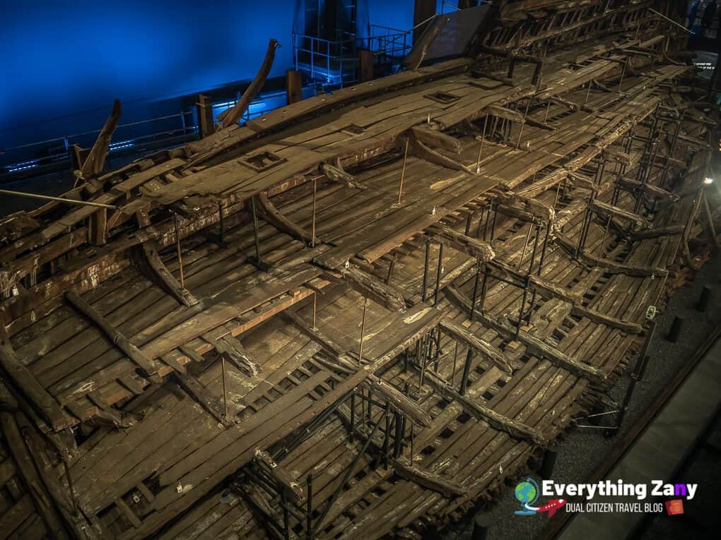 Ruins of The Mary Rose in Portsmouth