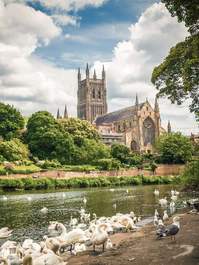 Worcester Cathedral in Worcestershire