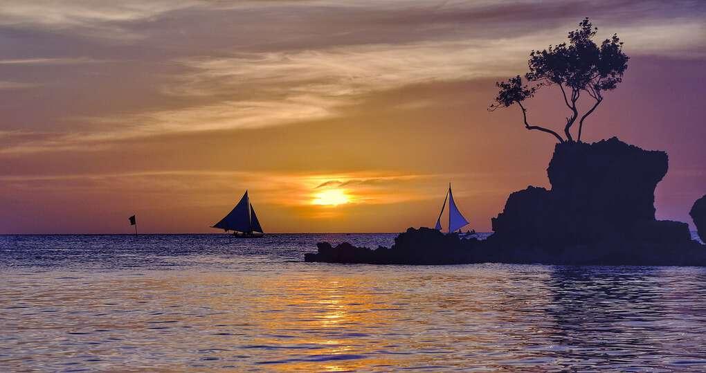 Sunset in Boracay Philippines