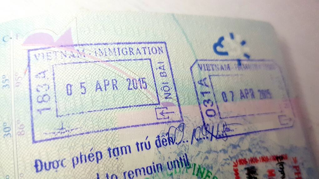 Vietnam Arrival Stamp For UK Citizen Visa Free countries