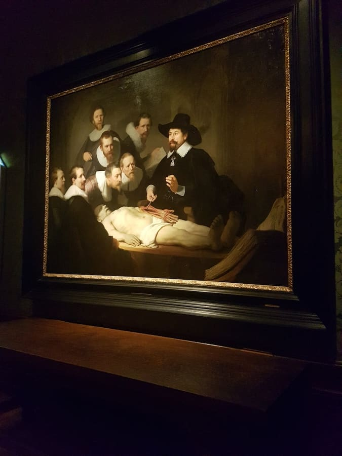 Anatomy Lesson of Dr Nicolaes Tulp by Rembrandt
