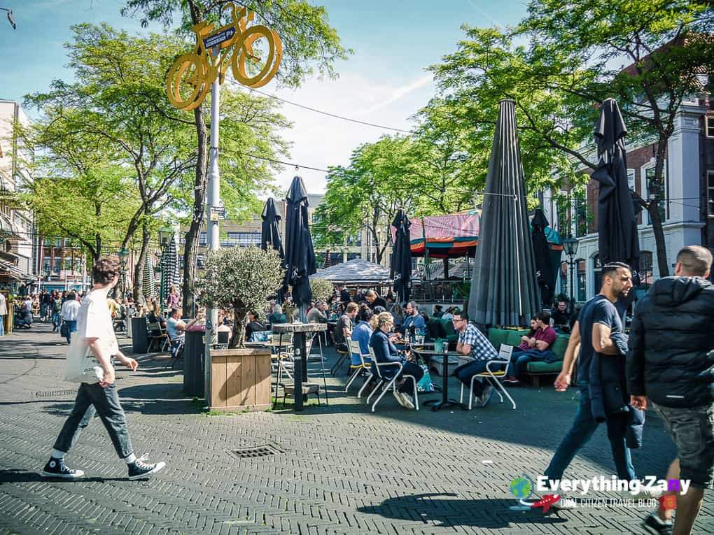 Beer garden and cafe in the Hague Netherlands