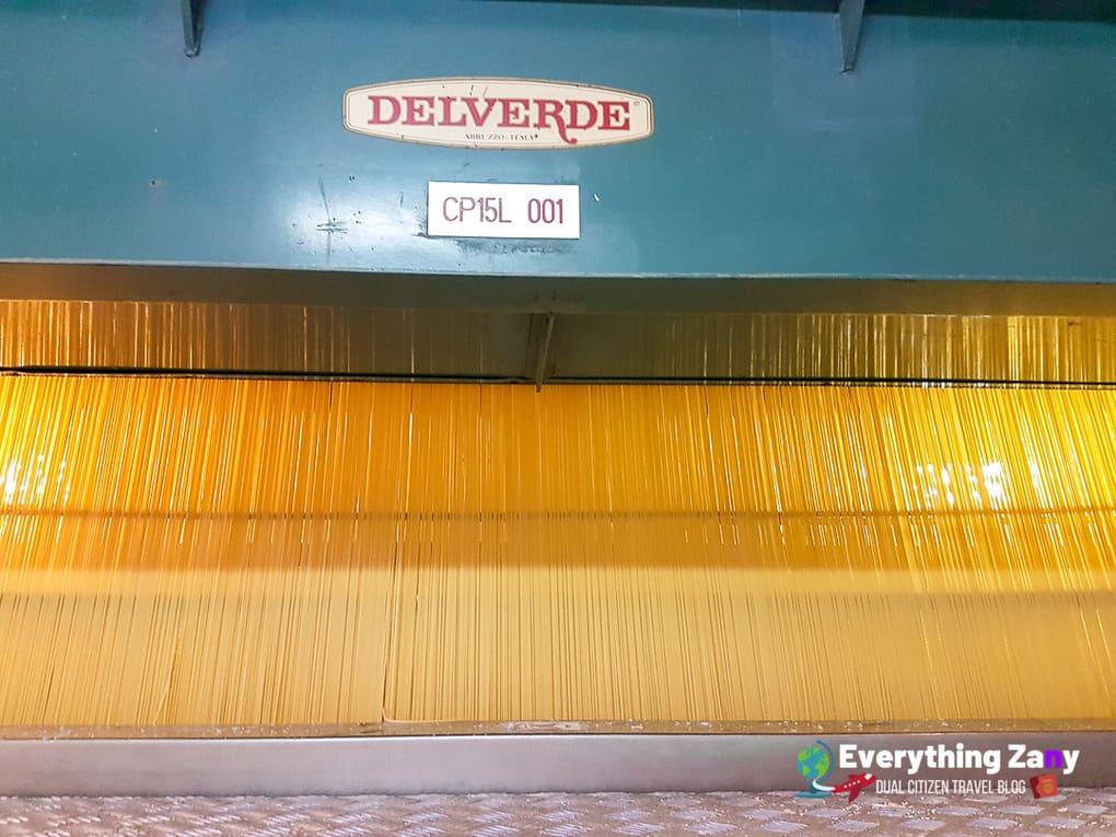Delverde Pasta Factory Cutting Machine