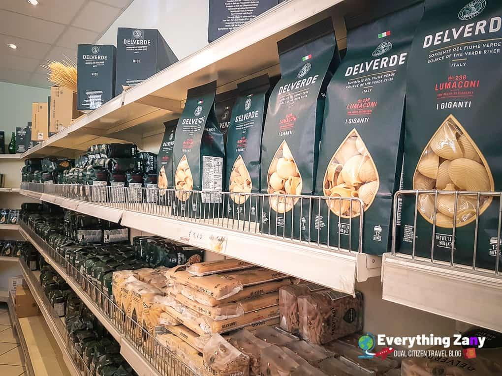 Delverde Pasta Factory Shop in Abruzzo Italy