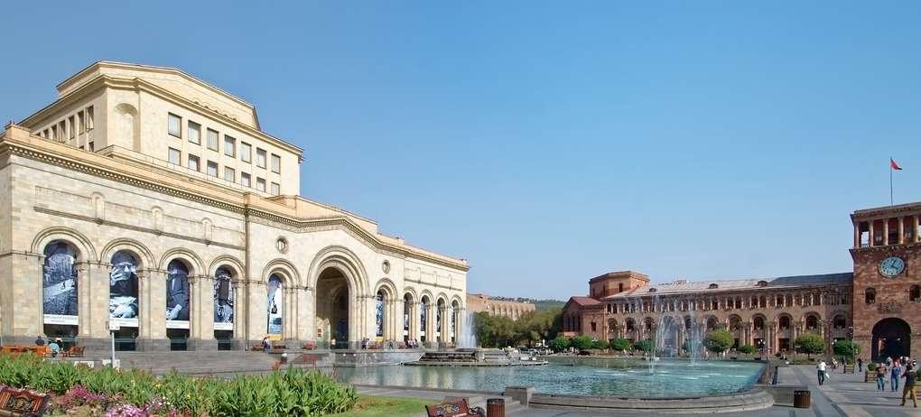 Republic Square in Yerevan Armenia